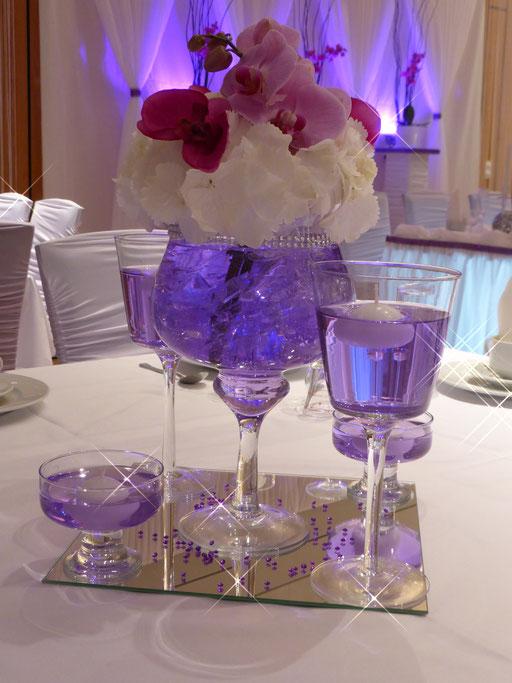 Vase Hortensien Orchideen