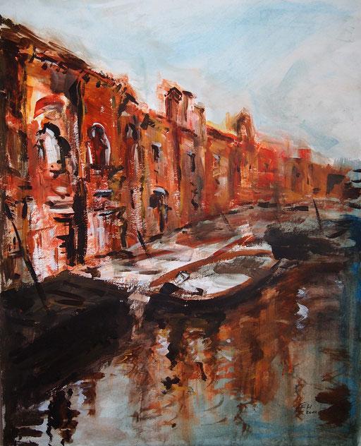 Sunset Venice,expressiv