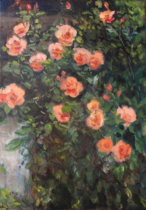 Roses, Öl-Lwd.70x50cm