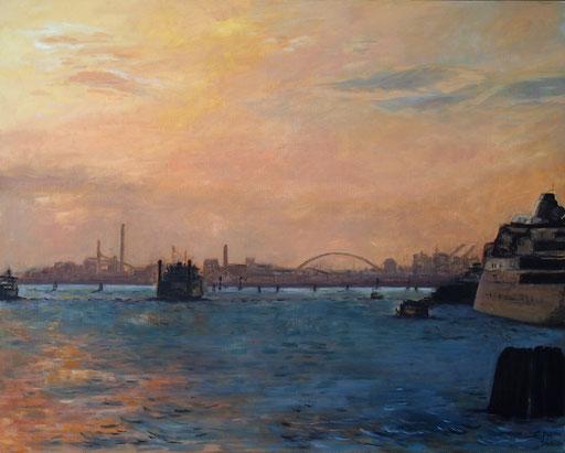Sunset Mestre,Venice,80x100cm,Öl_Lwd.