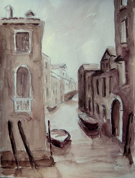 Venice 2 ,Grafit und Aquarell 48x36cm