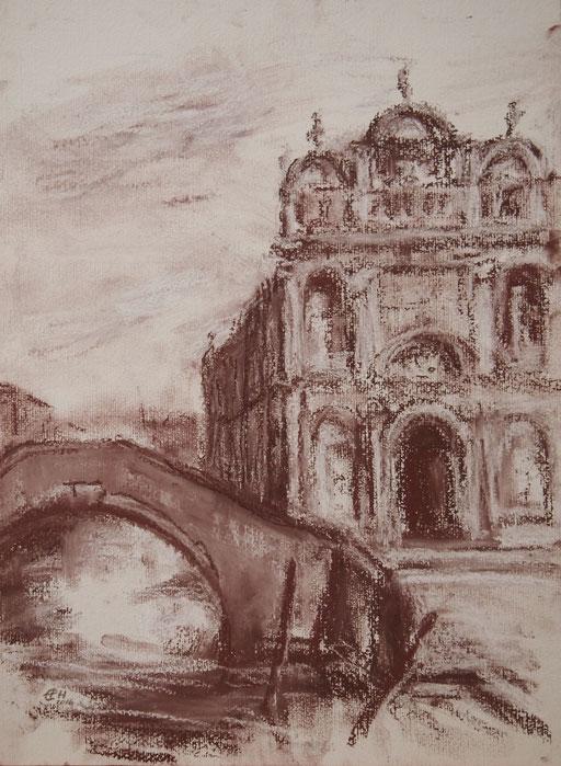 Scuola Grande di San Marco, 48x36cm  Pastell auf Papier