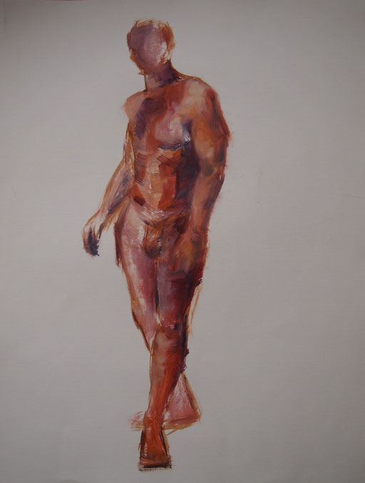 Aktstudie 2,Öl-Papier65x50cm