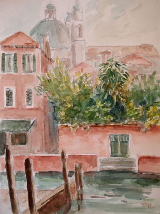 Venezia III ,Grafit und Aquarell