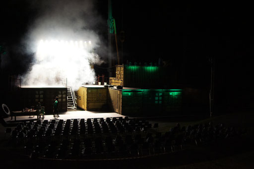 Macbeth - directed by Thomas A. Welte; Shakespeare am Berg, Muttersberg Arena; Set; photo: Martin Schindegger