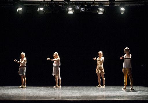 Provisional Landscapes - by Avatâra Ayuso; West Wing Theatre Slough; dancers: Estela Merlos, Alejandra Baño, Mar Valverde, Sun Bee Han; photo: Pau Ros