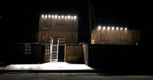 Macbeth - directed by Thomas A. Welte; Shakespeare am Berg, Muttersberg Arena, Set; photo: Tanja Ruehl