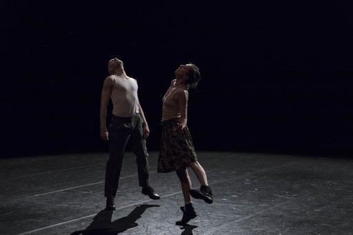 Elephant - by Rabih Mroué; Dance On Ensemble; dancers: Jone San Martin, Ty Boomershine; photo: Jubal Battisti