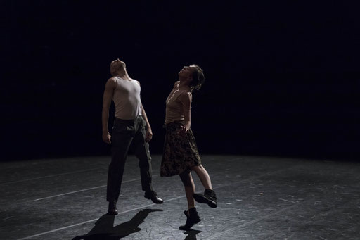 Elephant - by Rabih Mroué; Dance On Ensemble; dancers: Jone San Martin, Ty Boomershine; photo: Jubal Battisti