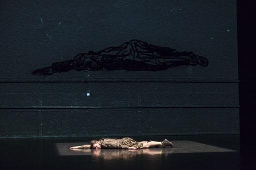 Elephant - by Rabih Mroué; Dance On Ensemble; dancer: Jone San Martin; photo: Jubal Battisti