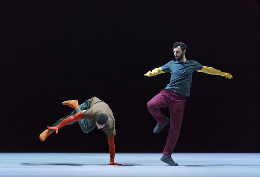 A Quiet Evening of Dance - by William Forsythe, Sadler's Wells Theatre, London, dancers: Rauf Yasit, Brigel Gjoka (Seventeen Twentyone); photo: Bill Cooper