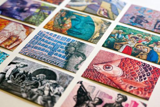 Visitenkarten zum Sammeln