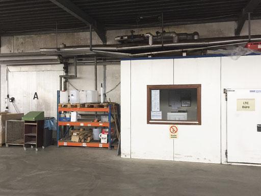Tiefkühlhaus Ladebereich und Büro