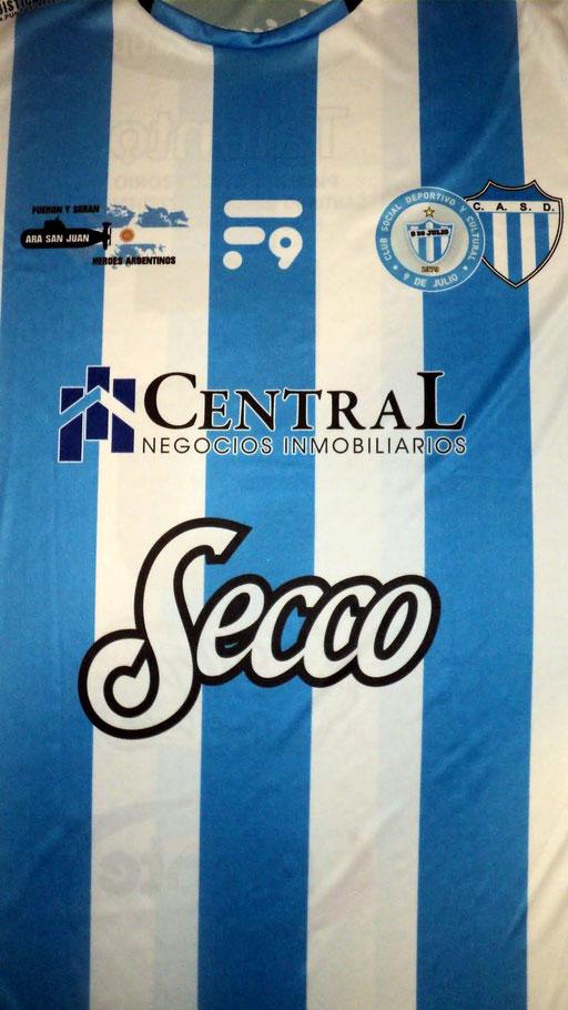 Social deportivo y cultural 9 de Julio. Necochea - Buenos Aires y del club  Atlético y social Defensores - Juan Napomucemo Fernandez - Buenos Aires.