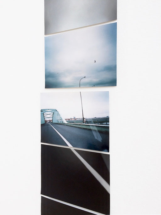 """""""Sequence drawing (road and sky)"""" / detail   2015  photograph, acrylic on paper"""