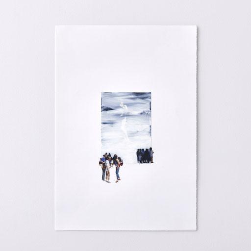 """Untitled"" 2018  oil on photograph, oil on paper 37.2×25.3cm, photo: kenji kagawa"