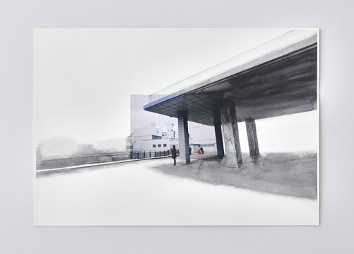 """""""Untitled"""" 2015  photograph, watercolor on paper  photo: kenji kagawa, Private Collection"""
