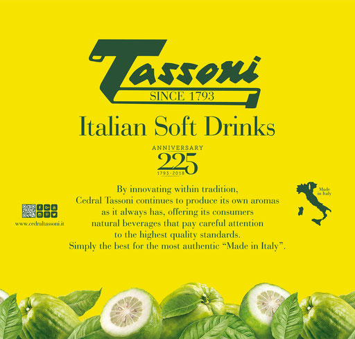 Historic Italian soda brand Tassoni
