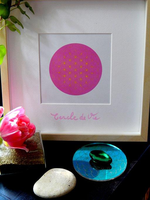 Cercle de lumiere, cerclesdelumiere.com, severine saint-maurice, fleur de vie, energie, spiritualité, enfants, cadre, tableau fleur de vie