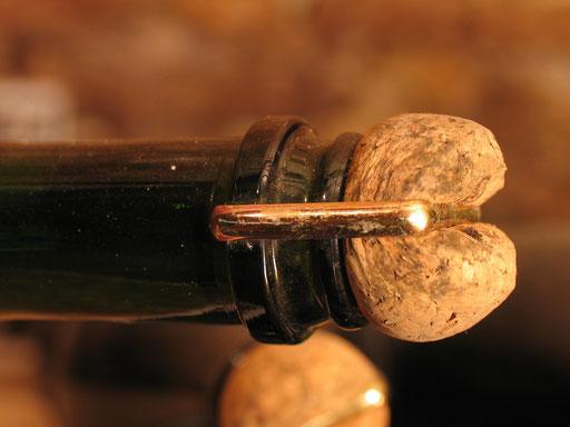 コルク密栓熟成中の特別キュベ「エディシオ」
