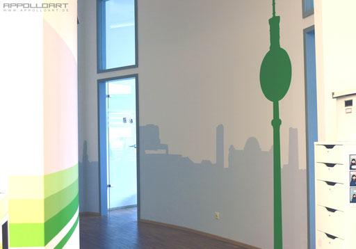 handwerklicher Kunst mit Pinsel in 3d Optik durch Graffiti und Airbrush verschönert
