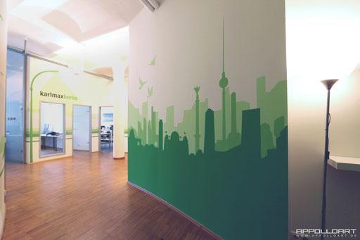 Innenwand Malerei Unikate im Arbeitsbereich-freie Raumgestaltung Berlin Mitte