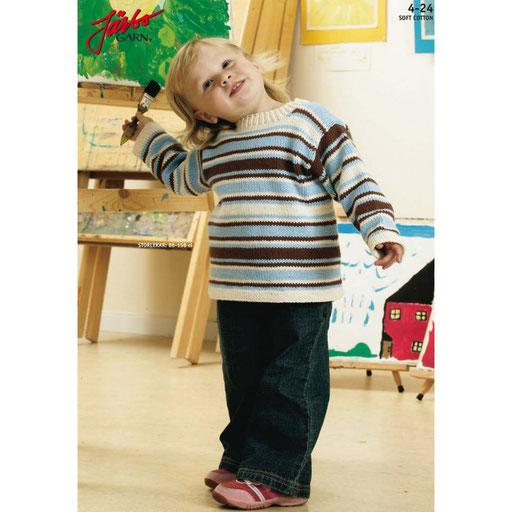 Randig tröja till barn i Järbo Soft Cotton