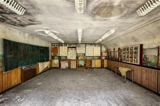 verlassener Schulungsraum