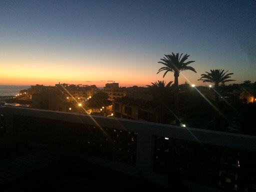 Der Sonnenuntergang über Valle Gran Rey