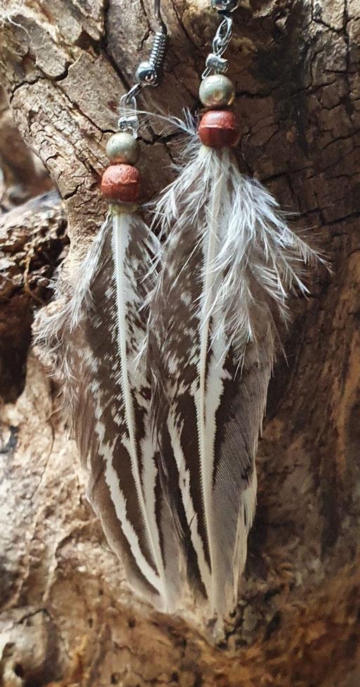 Boucles d'oreilles faisan vénéré