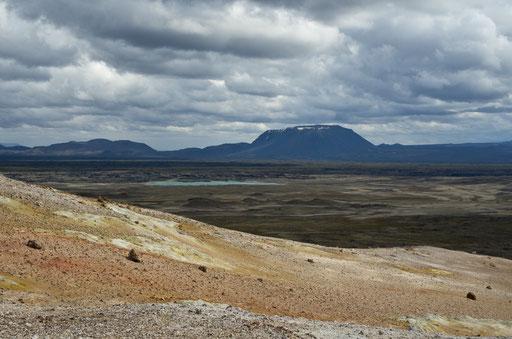 Vue depuis la montagne de Namafjall