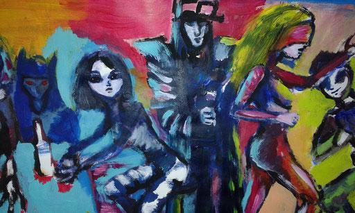 Bar, acryl op canvas, ca 2014, verkocht
