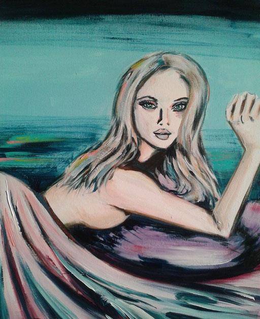 Scarlett, acryl op canvas, ca 2016, verkocht