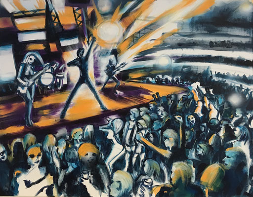 Concert, acryl op canvas, ca 2018, €300