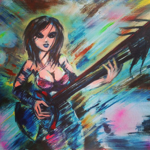 Flying Axe, acryl op canvas, ca 2015, verkocht