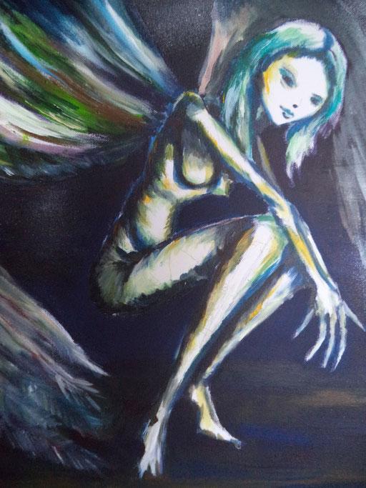Wings, acryl op canvas, ca 2015, verkocht