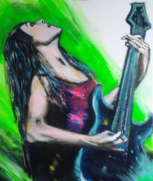 Jessica, acryl op canvas, ca 2015, verkocht