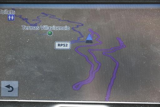 ja, auf dem GPS sieht man's genau!