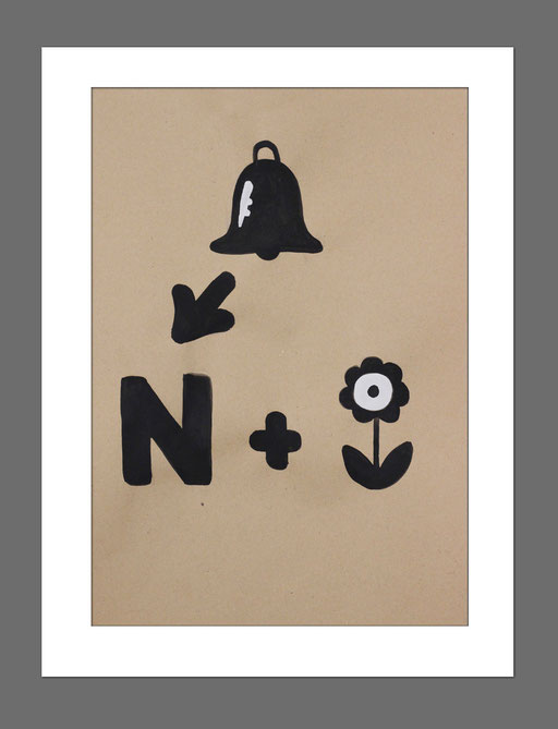 Icon Art | Rebus 1 | 21x29,7 cm | Acryl