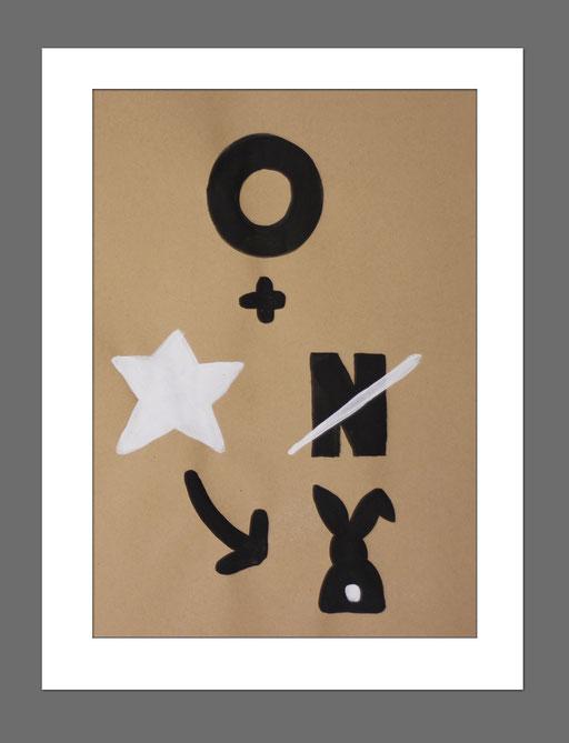 Icon Art | Rebus 3 | 21x29,7 cm | Acryl