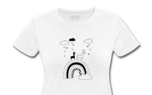 All The Fluffy Animals - Organic Shirt Rainbow Alpaka