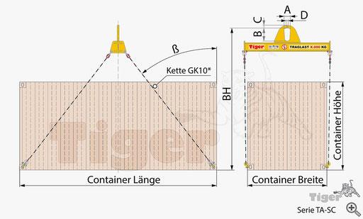 Containertraverse TA-SC - Zeichnung