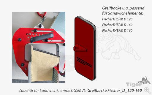 Sandwichklemme - Greifbacke passend für FischerTHERM