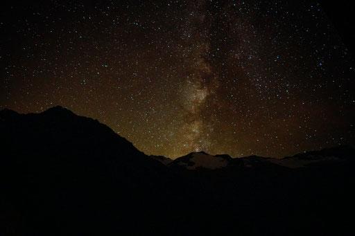 Sternenhimmel von der Langtalereckhütte