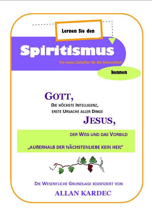 Broschüre Lernen Sie den Spiritismus kennen - Seite 01