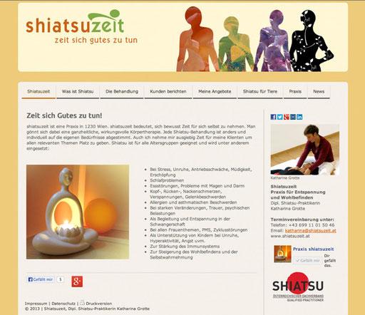 Neuer Webauftritt und CMS Tool, Marketingberatung, SEO,http://www.shiatsuzeit.com