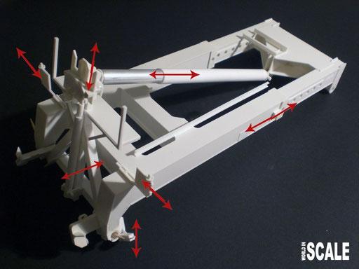 Die Bewegungsachsen des Liftadapters