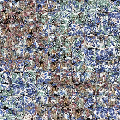 Barcelona Nr. 1 | 1.20 x 1.20 m | Fotocollage digital hinter Acrylglas | Privat Collection - Hamburg DE