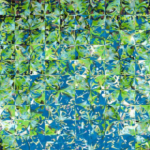 Barcelona Nr. 7 | 1.20 x 1.20 m | Fotocollage digital hinter Acrylglas | Privat Collection - Berlin DE