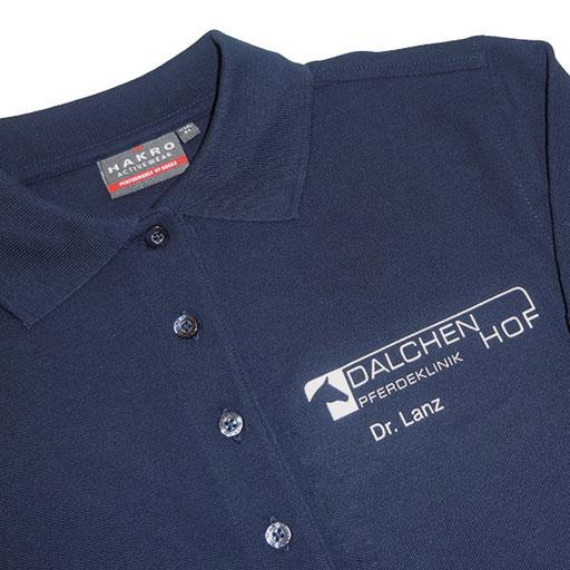 Siebdruck auf Polo Shirt